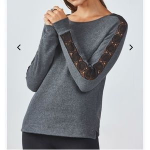 Fabletics fleece sweater. New with tags!
